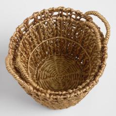 Gold Hyacinth Francesca Baskets