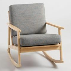 gray rocking chair